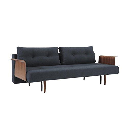 innovation recast plus schlafsofa dunkelblau gestell holz stoff 515 blue nist armlehnen in. Black Bedroom Furniture Sets. Home Design Ideas