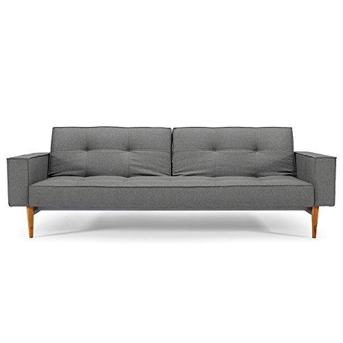 innovation schlafsofa mit armlehnen und hellen holzbeinen. Black Bedroom Furniture Sets. Home Design Ideas