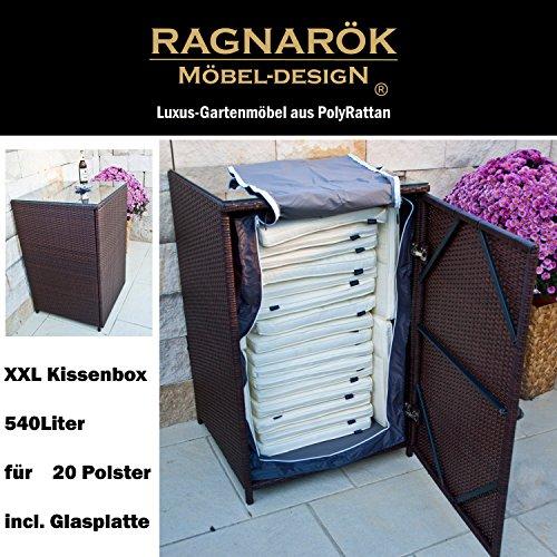 polyrattan kissenbox deutsche marke eigene produktion 8 jahre garantie mit glasplatte f r 20. Black Bedroom Furniture Sets. Home Design Ideas