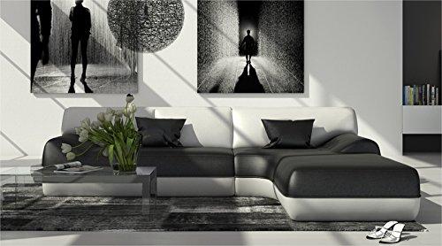 sam design ecksofa sofagarnitur impulso rechts in schwarz wei 260 x 220 cm couch komplett. Black Bedroom Furniture Sets. Home Design Ideas