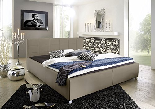 sam design polsterbett katja muddy pflegeleichtes bett aus kunstleder abgestepptes kopfteil. Black Bedroom Furniture Sets. Home Design Ideas