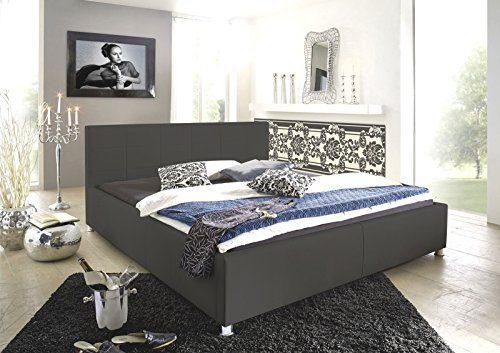 SAM® Kinderbett Jugendbett Polsterbett Katja 100 x 200 cm grau gesteppt chromfarben Füße komfortabel modisch schlicht