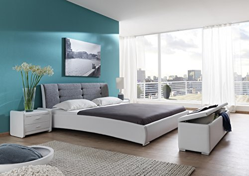 sam polsterbett 120 200 cm bastia wei grau bett mit. Black Bedroom Furniture Sets. Home Design Ideas