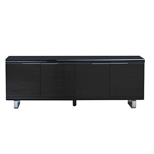 sideboard milano anrichte schrank buffet sideboard highboard schwarz hochglanz m bel24. Black Bedroom Furniture Sets. Home Design Ideas