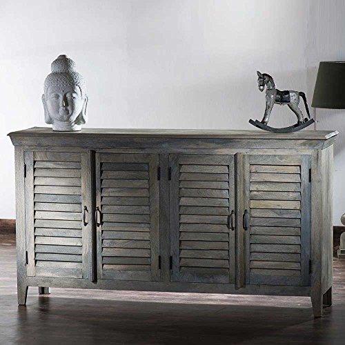 Sideboard im Vintage Design Grey Wash Optik Pharao24