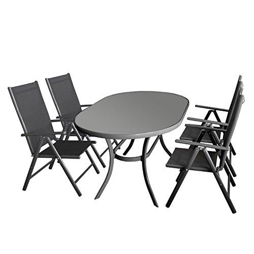 4 1 polyrattan gartenm bel set terrasse wintergarten balkon set wetterbest ndiges aluminium. Black Bedroom Furniture Sets. Home Design Ideas