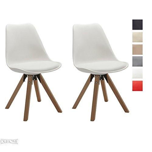 stuhl esszimmerst hle k chenst hle 2 er set in weiss. Black Bedroom Furniture Sets. Home Design Ideas