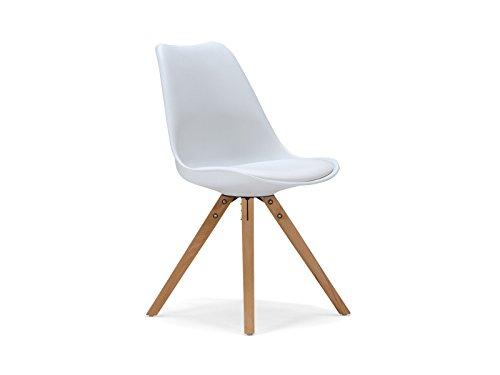 massivum retro esszimmer stuhl california 49x83x53 aus holz natur lackiert und kunststoff wei. Black Bedroom Furniture Sets. Home Design Ideas
