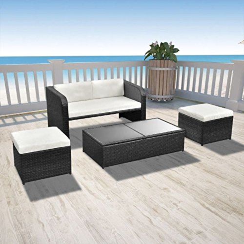 vidaxl poly rattan essgruppe 9 tlg gartenm bel sitzgruppe gartenset lounge m bel24. Black Bedroom Furniture Sets. Home Design Ideas