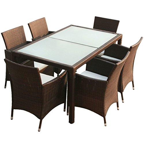 vidaxl poly rattan gartenm bel 13tlg braun sitzgruppe essgruppe essgarnitur m bel24. Black Bedroom Furniture Sets. Home Design Ideas
