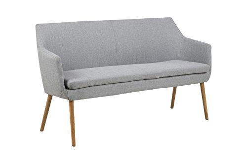 AC Design Furniture 65038 Armstuhl, Stoff, hellgrau, 56 x 159 x 86 cm
