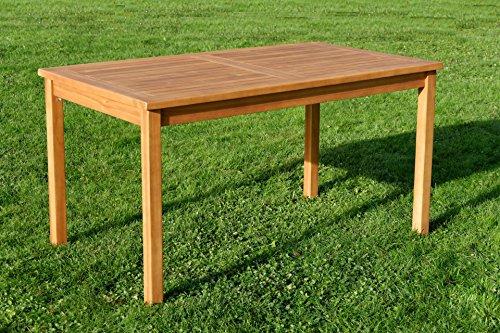ECHT TEAK Gartentische Holztisch Tisch in verschiedenen größen Serie: ALPEN von AS-S, Größe:140x80 cm