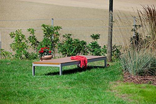 MERXX Gartenliege Cagliar, Rückenlehne mehrfach verstellbar