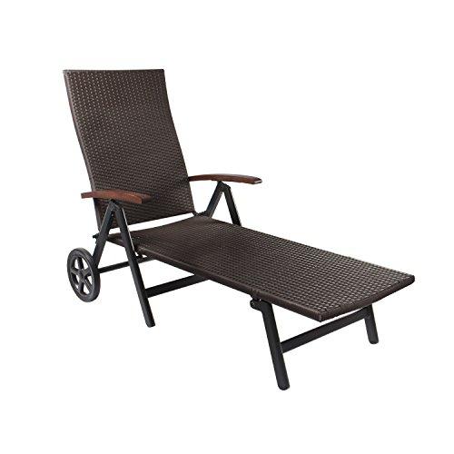vanage gartenliege emma mit rollen braun m bel24. Black Bedroom Furniture Sets. Home Design Ideas