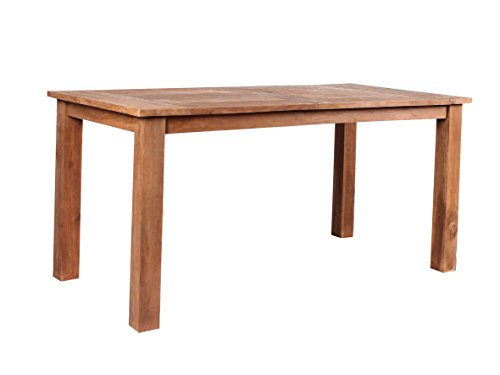 großer massiver Teakholz Esstisch Retro 150/160/180x80 cm Teaktisch Küchentisch Massivholz stabil