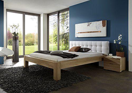 SAM Stilvolles Holzbett 180x200 cm Stefanie aus Kernbuche Massiv, gebürstet & pflegeleicht, Doppelbett