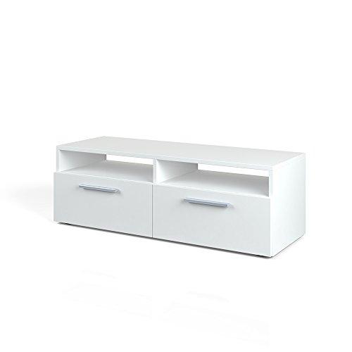 VICCO Lowboard DIEGO - Fernsehtisch Sideboard Fernsehschrank TV-Board Schrank (Weiß Hochglanz, 95cm)