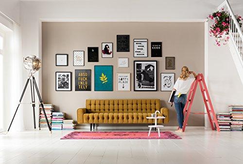 Kare Sofa Milchbar Velvet Honey 3-Sitzer, Stoff, Gelb, 86 x 233 x 83 cm