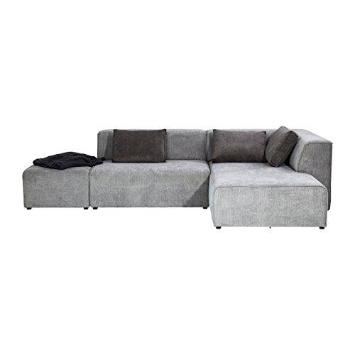 KARE Design Ecksofa Sofa Couch Ottomane Infinity grau