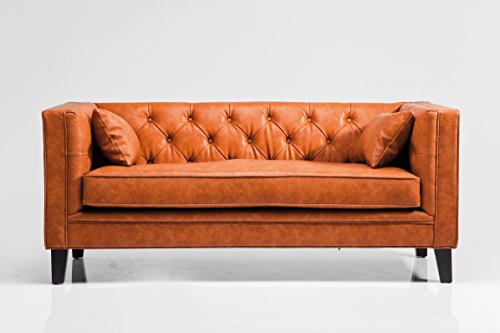 Sofa Texas Brown Polstersofa 2-Sitzer 2er Kunstledersofa by Kare Design
