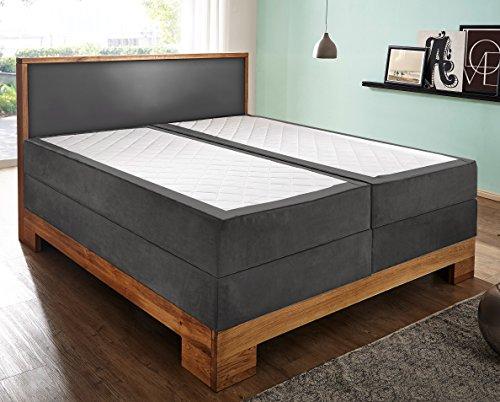 sam design boxspringbett sirin box mit holzrahmen und bonellfederkern 2 x 90 cm. Black Bedroom Furniture Sets. Home Design Ideas