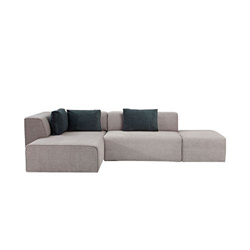Sofa D Winkel Infinity Soft links grau Kare Design