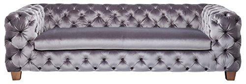 Kare Sofa My Desire 3-Sitzer, Stoff, Silbergrau, 103 x 245 x 70 cm