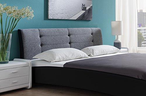 SAM Design Polsterbett 200x200 cm Bastia in schwarz/grau