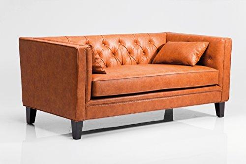 Sofa Texas Brown Polstersofa 2-Sitzer 2er Kunstledersofa by Kare Design