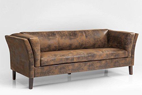 Sofa Canapee 3-Sitzer Vintage Eco Mikrofaser B210xT79xH73 by Kare Design