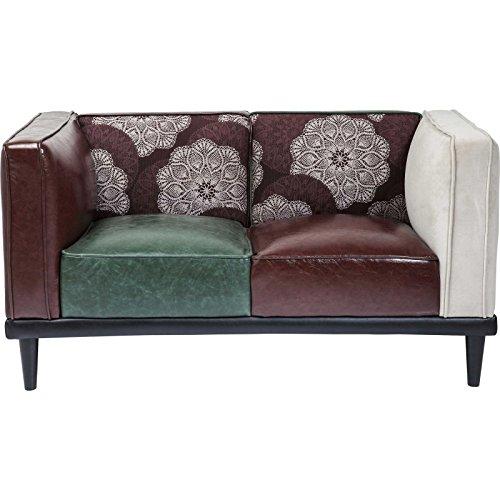 Kare 79520 Sofa Dressy 2-Sitzer, Braun-Grün-Weiß