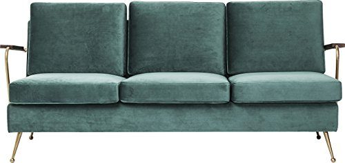 Kare Polstersofa Gamble 3-Sitzer, 80750, bequemes, modernes XL TV Loungesofa im Retro-Design mit Armlehnen, grün (H/B/T) 78x179x75cm