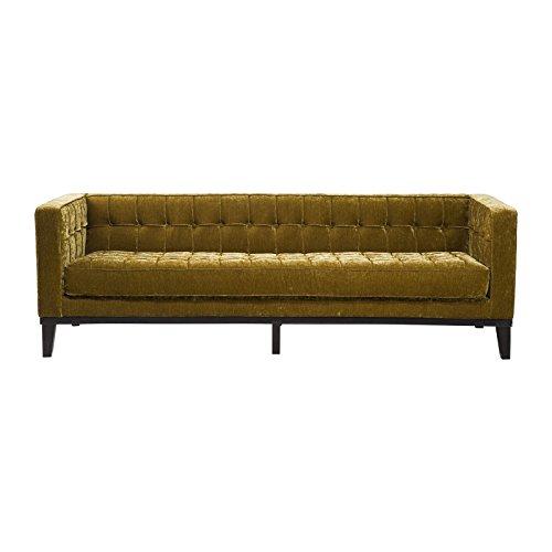 Kare Sofa Mirage 3sitzer, 76671, moderne Retro Lounge-Couch mit samtigen Vintagestoff, grün (H/B/T) 71x226x80cm