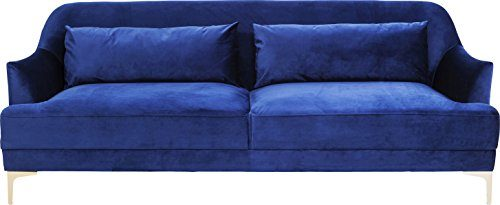 Kare Sofa Proud 3-Sitzer, Stoff, Blau, 86 x 214 x 81 cm