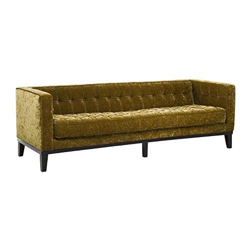 kare sofa mirage 3sitzer 76671 moderne retro lounge couch mit samtigen vintagestoff gr n h b. Black Bedroom Furniture Sets. Home Design Ideas