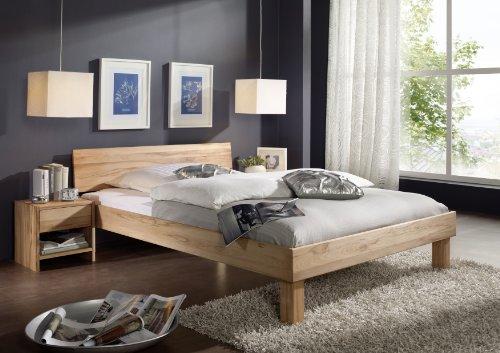 SAM Massivholz Bett 120x200 cm Columbia mit geschlossener Rückenlehne, Buche, geölt, Design für Ihr Schlafzimmer