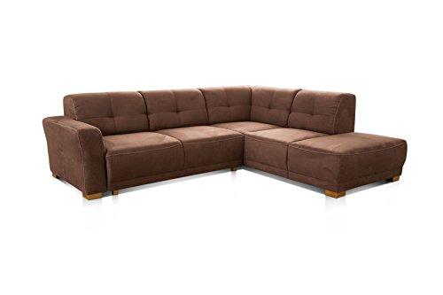 cavadore ecksofa modeo sofa ecke mit federkern und modernen kontrastn hten hochwertiger. Black Bedroom Furniture Sets. Home Design Ideas