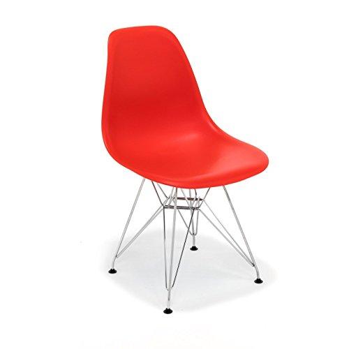 hochwertige tower replica eames stuhl polypropylen und stahl rot m bel24. Black Bedroom Furniture Sets. Home Design Ideas