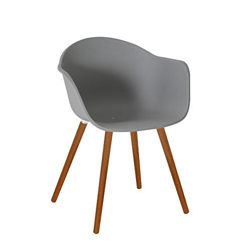greemotion 129500 gartenstuhl derby aus kunststoff stuhl mit holzbeinen f r garten balkon. Black Bedroom Furniture Sets. Home Design Ideas