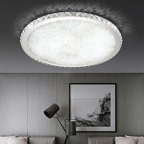 ETiME Deckenleuchte Kristall LED Deckenlampe Rund Wohnzimmer Schlafzimmer Esszimmer Lampe (36W Ø42cm kaltweiss)