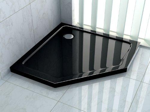 50 mm Duschtasse für FIVE 100 x 100 (schwarz)