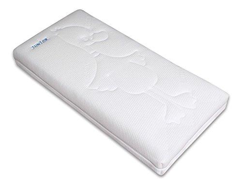 Betten-ABC OrthoMatra Junior-Duo - Babymatratze und Kleinkindmatratze in Einem/Atmungsaktiver Kaltschaumkern mit Trittkante in 60 x 120 cm - allergikergeeignet