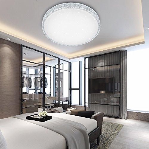 VINGO® 50W LED Kristall Deckenleuchte Sternenhimmel Kaltweiß Starlight Deckenbeleuchtung Wohnzimmer Deckenlampe Korridor Schlafzimmer Schönes Mordern Badleuchte
