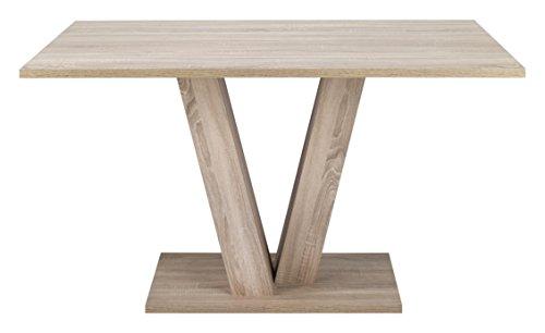 CAVADORE Esszimmertisch DAVID,Moderner Tisch in Eichenholz Optik,in verschiedenen Größen,160cm x 90cm x 75cm (LxBxH)