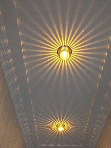 Deckenleuchte Flur Schlafzimmer Balkon Wohnzimmer Badezimmer Treppen Korridor Lampe 3W Wandleuchte Innen LED (gelb)
