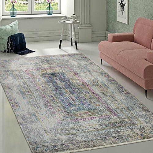 Paco Home Designer Vintage Teppich Aztekenmuster Eyecatcher Ornamente Bunt Mehrfarbig, Grösse:160x230 cm
