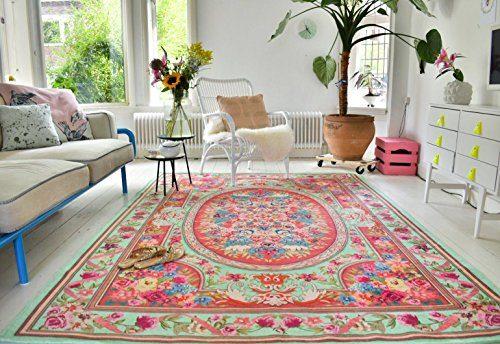 Rozenkelim.nl Neuer Teppich | im angesagten Shabby Chic Look | für Wohnzimmer, Schlafzimmer, Kindergarten | Pastell (nr 611 275 cm x176 cm)