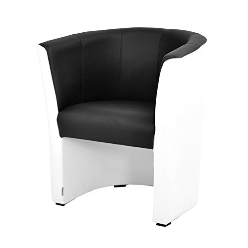 FORTISLINE TOP Sessel Clubsessel Loungesessel Cocktailsessel MIX Weiss/Schwarz W042 12