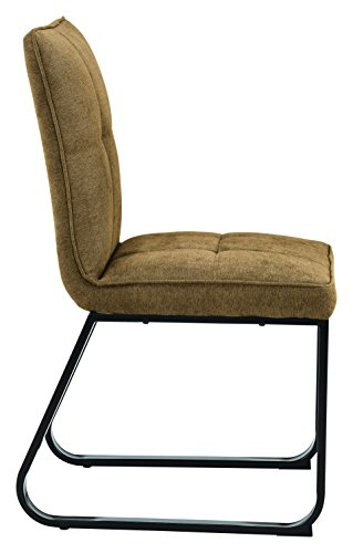 CAVADORE Esszimmerstuhl  im 2-er Set TILDA / 2x gepolsterte Stühle in klassischem Design / Bezug Vintage Kunstleder in CAPPUCCINO und verchromtem Metallgestell / 56x86x55cm (BxHxT)