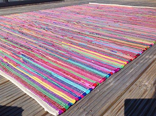Gorgeous Second Nature Umweltfreundlich Mehrfarbig Chindi Flickenteppich–Über 20Größen INC Läufer und quadratisch, baumwolle, Multi Colours, 150cm x 150cm